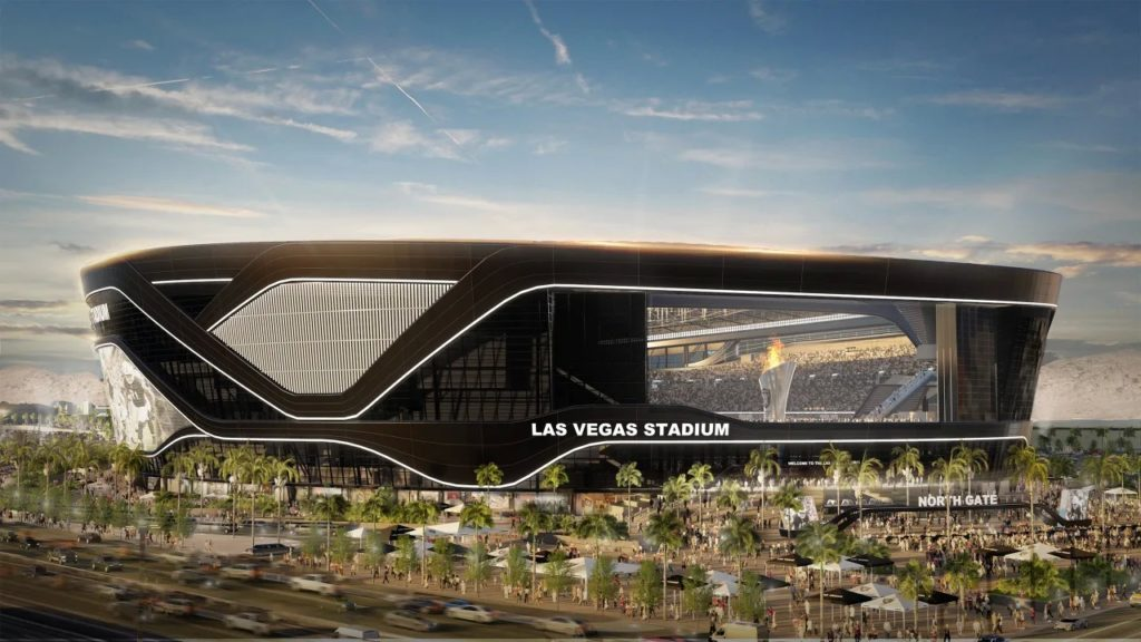 Las Vegas Stadium view from the strip