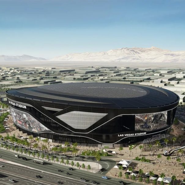 View of Las Vegas Raiders Stadium